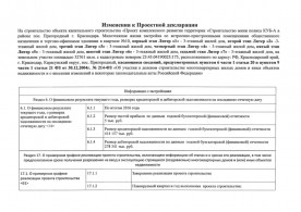 Изменения к проектной декларации от 5 апреля 2017 года